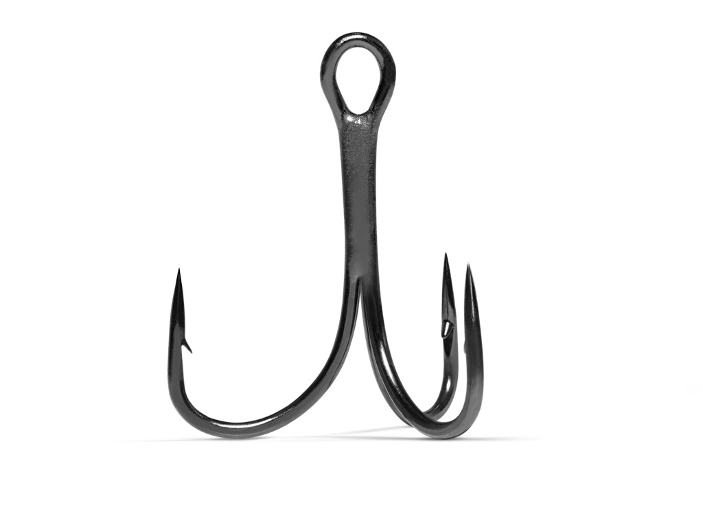 VMC 7552 Light Inline Treble Hook -